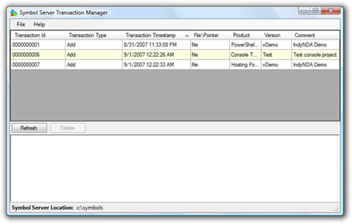 Symbol Server Transaction Manager (2)