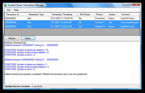 Symbol Server Transaction Manager (3)