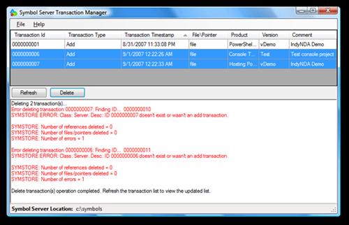 Symbol Server Transaction Manager (4)