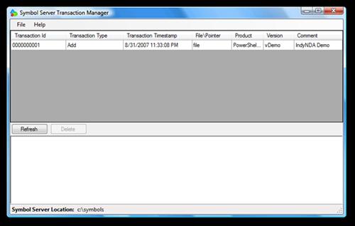 Symbol Server Transaction Manager (5)